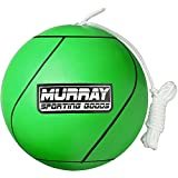 Murray Sporting Goods Tetherball and Rope - Full-Size Soft Rubber Portable Tetherballs with Rope (Green)