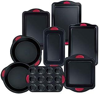 Hell's Kitchen HK-418 8 Piece Ultimate Bakeware Set, Black