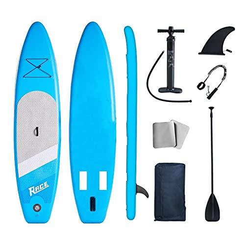 Lucear Stand up Paddle Board gonflable pour débutants/intermédiaires avec sac à dos, laisse et pagaie (bleu)