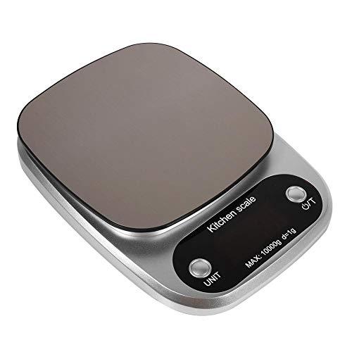 Keukenweegschaal, digitale weegschaal 10 kg / 10000 g, multifunctionele keuken met hoge precisie en voedselweegschaal voor het wegen van de keuken