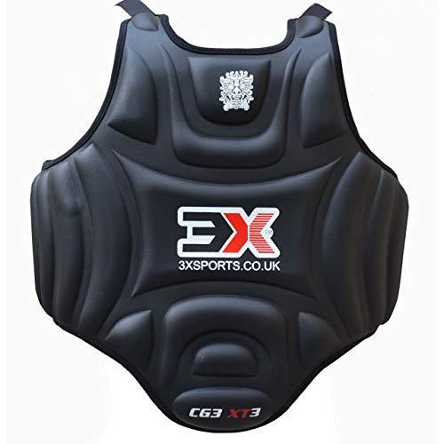 Boxen Körperschutz Kampfsport Körperschutzweste Kampfweste Taekwondo MMA Krav Maga trainieren Körperpanzer Bauchschutz (CE-Zertifiziert)