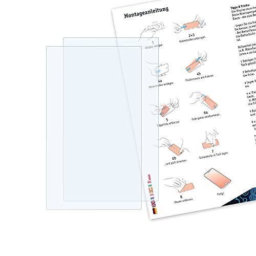Bruni Schutzfolie kompatibel mit Panasonic HC-X1 Folie, glasklare Displayschutzfolie (2X)