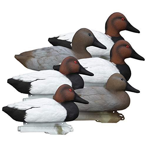 Higdon Outdoors Standard Canvasback Duck Decoys, Foam Filled, Multi, One Size