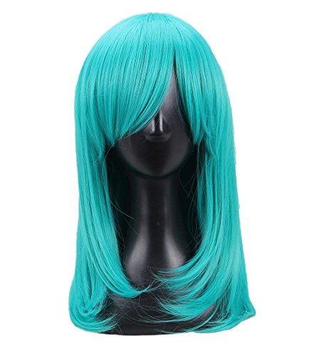 Women's Long Straight Royal Blue Cosplay Wig