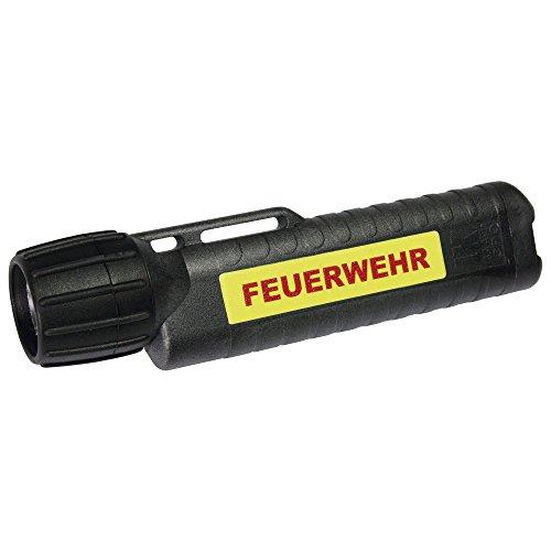 UK Lights Helmlampe 4AA eLED CPO, nachleuchtendem Streifen, Feuerwehr, TS/Heckschalter, schwarz 14436NF