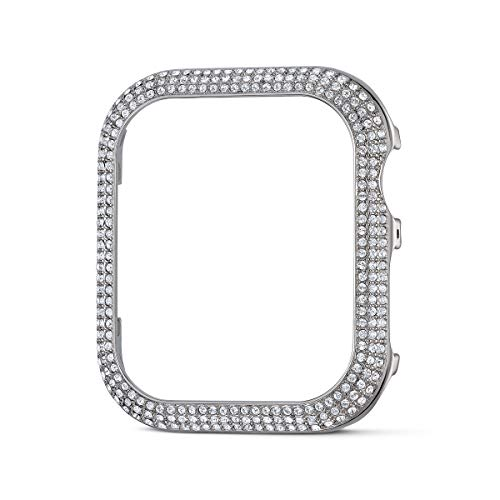 Swarovski Sparkling Smartwatch Case, Shiny Swarovski Crystals in silver-tone, 40mm Watch Case, Compatible with Apple Watch Series 4 and 5