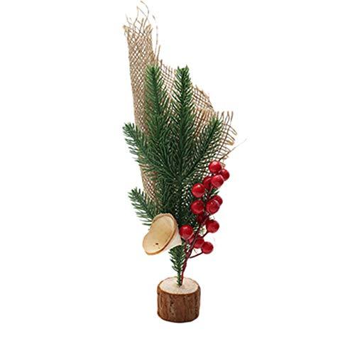 xiaosu Decoraciones de Frutos Rojos Secos, Decoraciones de Madera para árboles de Navidad, Decoraciones de Mesa, 26x10cm, Flores de Frutos Rojos Secos