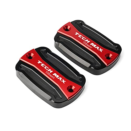 VSKTE CNC Aluminio 560 Frenos Fluido Tapa de la Tapa Fit para Yamaha T MAX T-MAX 560 Tech MAX 2020 2021 Cápsulas de Tanques (Color : 1 Pair Red)