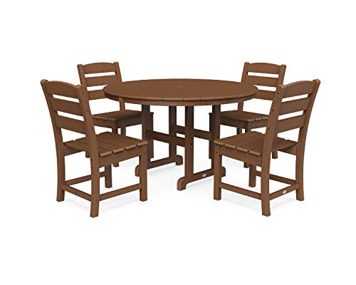 POLYWOOD Lakeside Dining Set, Teak