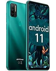 Smartphone Zonder SIM Ontgrendeld 8G RAM 128GB ROM Mobiele Telefoon Android 11 Ulefone Note 11P 48MP AI Quad Camera 8MP Groothoeklens 4400mAh Batterij 3-in-1 Kaartsleuf 6,55inch Scherm (Groen)