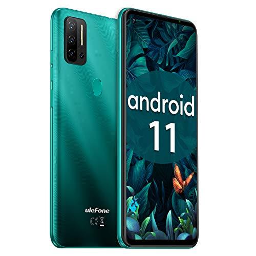 Telephone Portable Debloqué Pas Cher Android 11, 128Go+8Go Octa-Core, 4G Smartphone, Ecran 6,55Pouce, 48MP+8MP+2MP+8MP AI Caméra Fingerprint, 4400mAh Batterie, Ulefone Note 11P 2021 Dual Nano SIM + TF