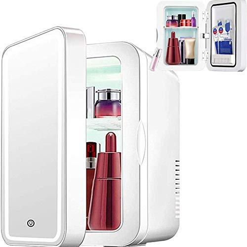 Nevera Para Cosmeticos, Luz De Led Ajustable De Tipo Táctil Portátil, Con Espejo De Maquillaje Para Dormitorio, Skincare & Cosmetics