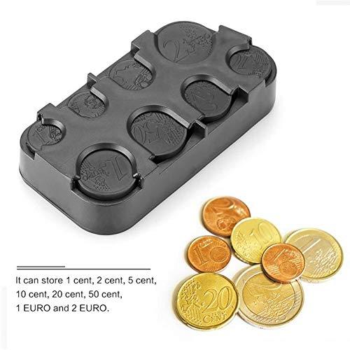 Creativa Euro Dólares Dispensador De Monedas De Almacenamiento Monedas Monedero Carpeta De Los Sostenedores Caja De Almacenamiento Automático De Asiento Gap Organizador De Bolsillo