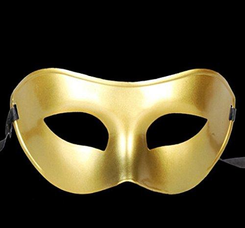 DAYAN Hommes ou Dames Masque Partie Colombina-doré