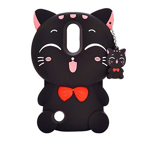 Samsung Galaxy S9 Plus Case, Maoerdo Cute 3D Cartoon Black Plutus Cat Lucky Fortune Cat Kitty with Bow Tie Silicone Rubber Phone Case Cover for Samsung Galaxy S9 Plus (6.2 inch)