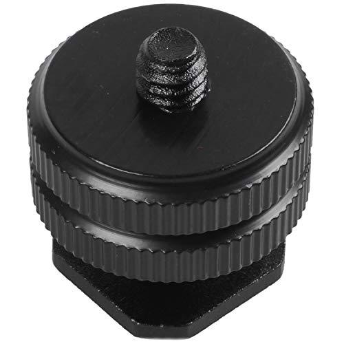 HEYB Durable 1/4' adaptador de montaje F tornillo de trípode Flash deslizante Hot Shoe Negro