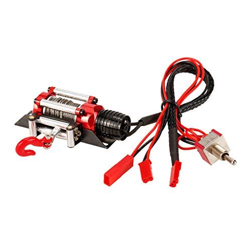 Baoblaze Cabrestante de Acero Automático Simulado con Cable de Interruptor de Alimentación para Camión Rastreador Control Remoto 1:10