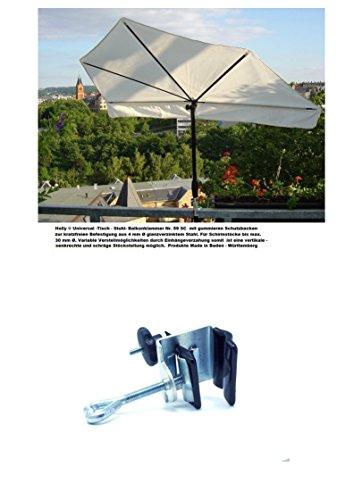 UV Schutz Sonnenschirm - UPV 50 + - Balkon - FÄCHERSCHIRM Holly'sun ® - Bezug 100% POLYACRYL - ZANGENBERG - Taupe - (MAUSGRAU) mit Holly ® mit EDELSTAHLALTER Duo -