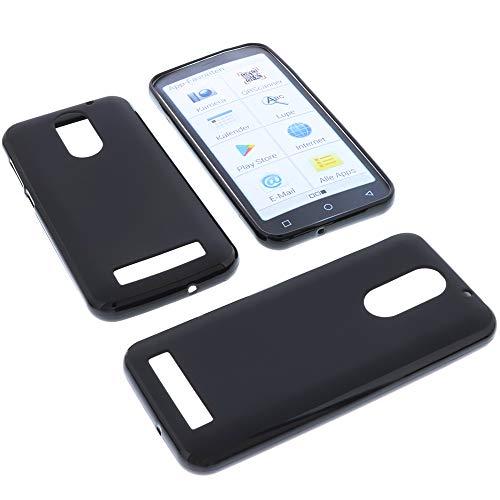 foto-kontor Hülle für Emporia Smart 4 Tasche Gummi TPU Schutz Handytasche schwarz