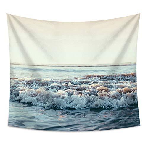 nobranded Ocean Wave Tapestry Blue Sea Tapestry Art Wall Hanging Surf Beach Art Decor Baño Hogar Dormitorio Sala de Estar