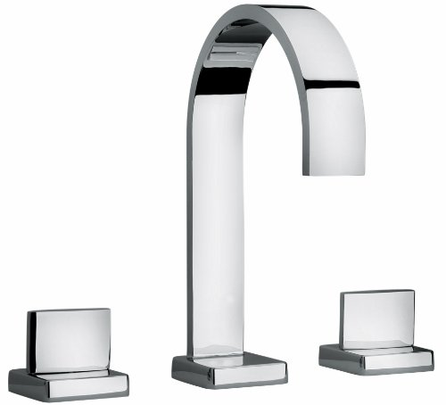Jewel Faucets 1510 J15 Bath Series Two Lever Handle Roman Tub Faucet with Classic Ribbon Spout Finish: Polished Chrome