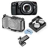 Blackmagic Design BMPCC Pocket Cinema Camera 4K - Bundle with SmallRig HDMI and USB-C Cable Clamp, SmallRig Mount, SmallRig Camera Cage