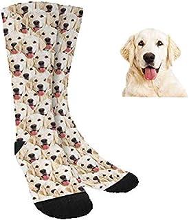 Calcetines Divertidos Personalizados Con Cara Perros Gatos Hombre Mujer - Sube tu Foto Nosotros hacemos el trabajo! - Calcetines Divertidos para Hombre y Mujer Unisex - Caras Nombres Regalo Original
