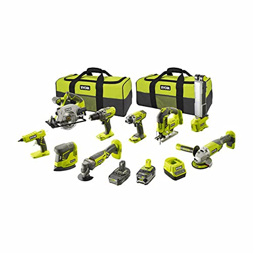 Pack RYOBI Combo 9 outils - 1 batterie 5.0Ah - 1 batterie 2.0Ah - 1 chargeur - R18CK9-252S