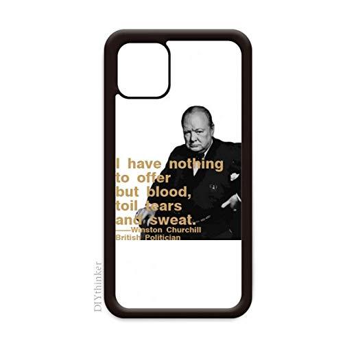 Capa Churchill Primeiro Ministro britânico Motto para iPhone 12 Pro Max para Apple Mini Mobile Case