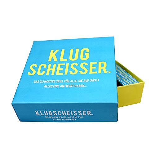 Monsterzeug Klugscheisser Wissensquiz, Besserwisser, 300 Fragen Antworten, Kartenspiel, Party Spieleabend, Gesellschaftsspiel