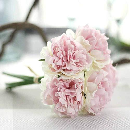 USADA 5 koppen/boeket pioenen kunstmatige bloem nep hortensia's kunstbloemen voor het jaar bruiloft thuis decoratie slinger