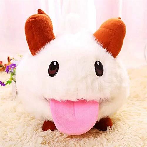 Zzlush gefüllte Spielzeug Plüschspielwaren Puppe gefüllte Tiere Figur Spielzeug - 25cm Süßes Spiel LOL Limited Poro Plüsch gefüllt Spielzeug Kawaii Puppe weiße Maus Cartoon Baby Spielzeug