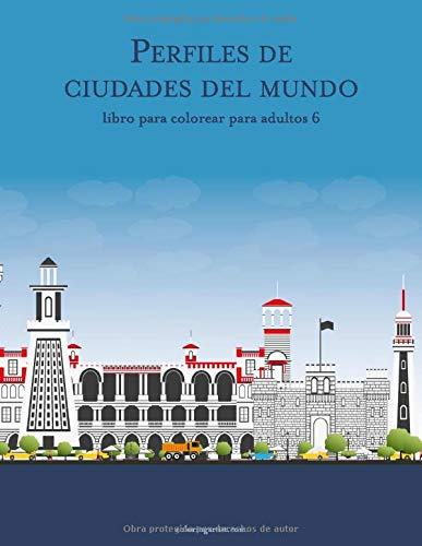 Perfiles de ciudades del mundo libro para colorear para adultos 6