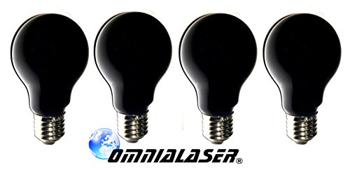 OmniaLaser OL-SimilUV75X4 lamp Simil UV, watt blauw, fitting E27-4 stuks, 75 W, 230 V