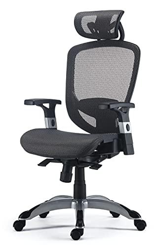 FlexFit Hyken Mesh Task Chair, Charcoal Gray (UN59464)
