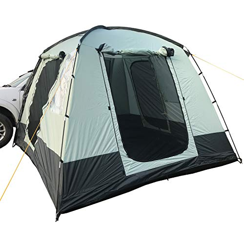 Skandika Pitea Mini-van Campervan Tent Awning 4 Person Man, Vehicle Car Extension, with 4 Entrances, Mosquito Mesh, Freestanding, 300x300cm in size with 225cm Height & Sewn-In Groundsheet