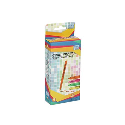 TTO Markeerstiften fluorescerend 12 stuks, oranje