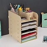 6 Tier Aus Holz A4 File Folder Ständer, Papier Dokument Magazinhalter, Speicherorganisations...