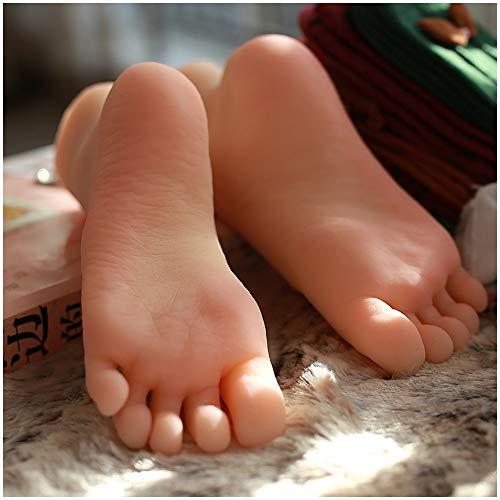1 Paar Silikon-Mannequin Fuß - Lifesize-Mädchen Feet Modell für Schmuck Sandale Schuhsocken-Anzeige Art Skizze