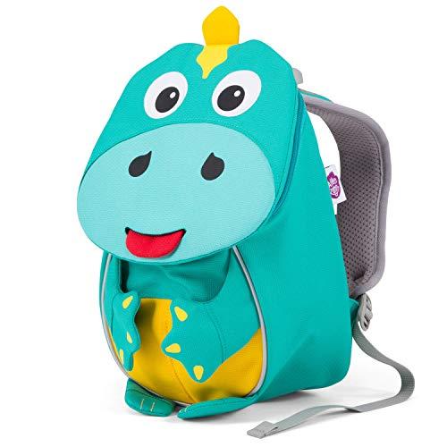 Affenzahn Kleiner Freund - Kindergartenrucksack für 1-3 Jährige Kinder im Kindergarten und Kinderrucksack für die Kita - Dinosaurier - Petrol
