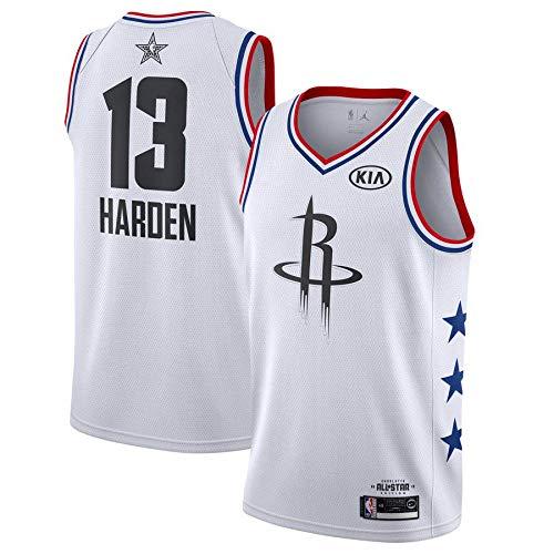 canottejerseyNBA James Harden - Houston Rockets #13, Basket Jersey Maglia Canotta, Swingman Ricamata, Abbigliamento Sportivo (S, Bianco all Star Game '19)