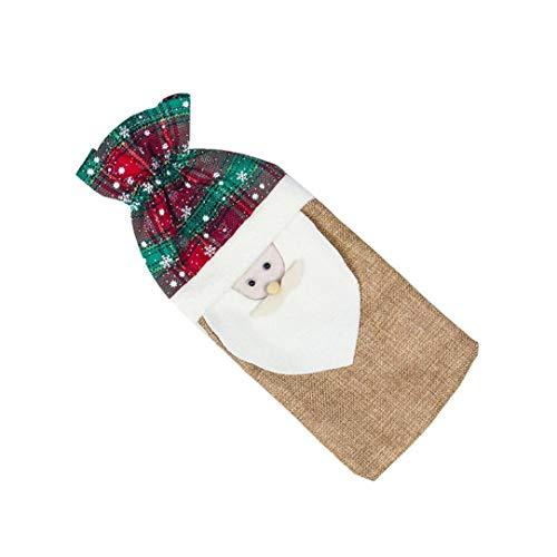hong Wu Weihnachten Rotwein Champagne-Flaschen-Beutel Urlaub Champagne-Kasten-Beutel Mit Weihnachtsmann-Muster