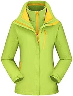 BEESCLOVER Brand New Outdoor Warm Winter Jacket Waterproof Breathable Hiking Windbreaker Skiing Fishing Men Jacket 3 in 1 Fleece Coat Green S