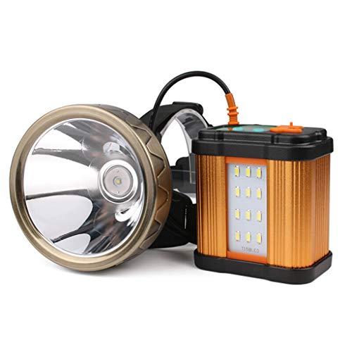 DUOER-lampe frontales Phares Longue portée fendus par USB de Charge, Huit Batteries de Lithium, éclairage extérieur imperméable de pêche de Nuit