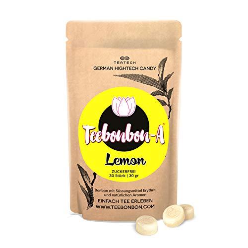 Erythrit Bonbon Teebonbon-Lemon   Zuckerfrei   mit natürlichem Aroma   Erythritol Candy   KETO-geeignet   30St / 30gr