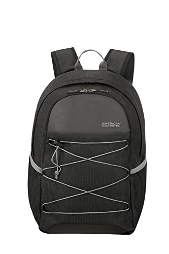 """American Tourister Road Quest Backpack Medium for 15.6"""" Laptop Mochila Tipo Casual, 48 cm, 28 Liters, Gris (Black/Grey)"""