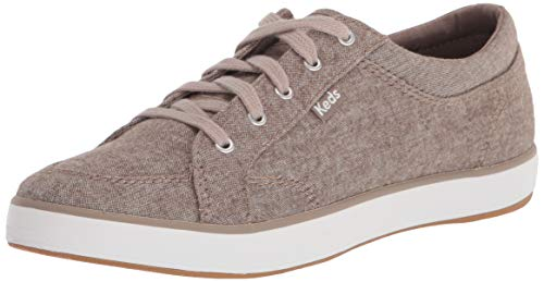 Keds womens Center Brushed Denim Sneaker, Walnut, 8 US