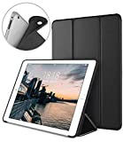 DTTO iPad 2 Case, iPad 3 Case, iPad 4 Case, Ultra Slim Lightweight Smart Case Trifold Cover Stand with Flexible Soft TPU Back Cover for iPad 2, iPad 3, iPad 4 [Auto Sleep/Wake], Black