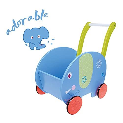 OMKMNOE Lauflernwagen Holz Mädchen, Gehhilfe Baby Lauflernhilfe, Holz Playland Lauflernwagen Für Junge, 2In1 Lauflernhilfe Baby, Spiel,1