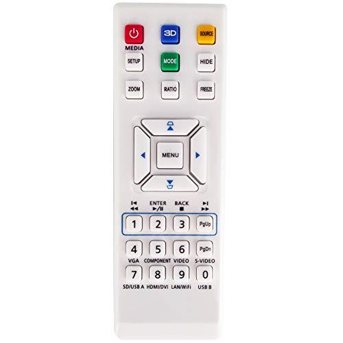 Leankle Fernbedienung E-26281 für Acer Projektoren H6517ABD, H6519ABD, X114AH, X114P, X114PH, X115, X115AH, X115H, X117, X117AH, X117H, X1184G, X1184PG, X1185G, X1185PG, X124PH, X125H, X127H, X1284G